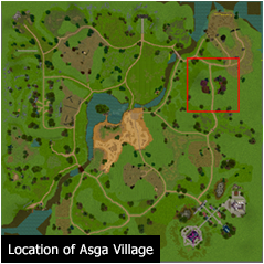 Location of Asga Village
